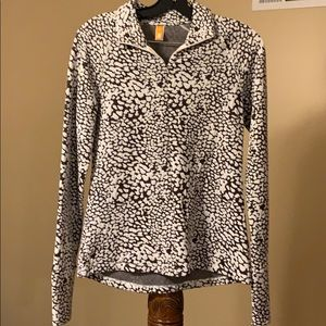 Lucy Brown and Cream Print Pullover